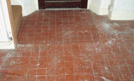 Click to Enlarge - Quarry Tile Floor Before Cleaning and Sealing