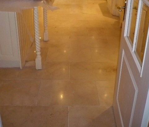 Polished Marble Tile after cleaning and reburnishing