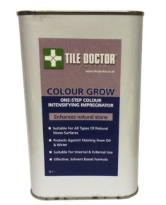 Tile Doctor Colour Grow colour enhancing natural Stone Sealer for Granite, Limestone, Marble, Porcelain, Slate, Terracotta and Travertine