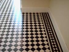 After Picture - A Victorian Tile Floor in Cheshire Restored by Tile Doctor